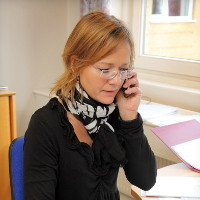 Majbrit Hansen er ansvarlig for vores bogføring